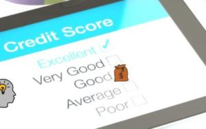 An image of an example credit score