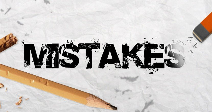 An image of mistakes