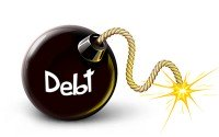 An image of a debt bomb