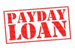 A red payday loan sign