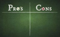 An image of a pros and cons list