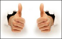 An image of 2 thumbs up