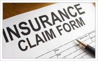 An image of an insurance claim form
