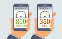 An image comparing a good and a poor credit score