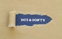 An Image Stating Do's & Don'ts