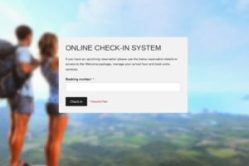 An image of an online checking in system