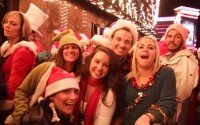 An Image of Students on a Christmas Pub Crawl