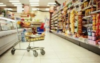 An Image of a Shopping Trolley In a Supermarket