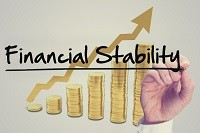 An image showing a financial stability graph