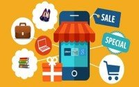 An Image of Online Shopping Sale Icons