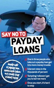 A Say No To Payday Loans Sign