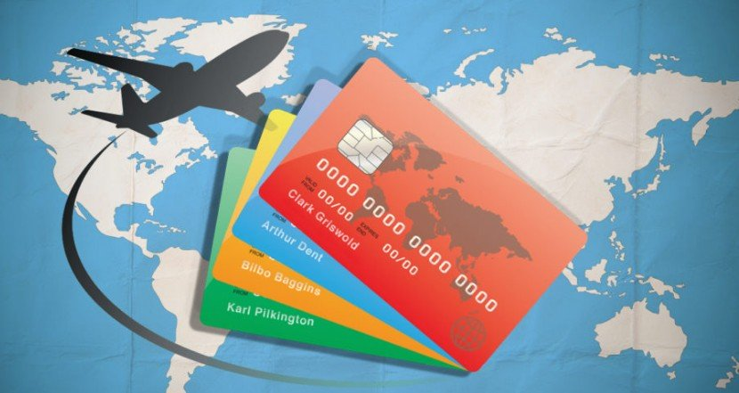 An Image of a Map, Some Credit Cards and An Aeroplane