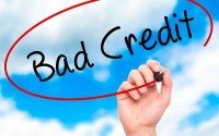 An image of a bad credit sign