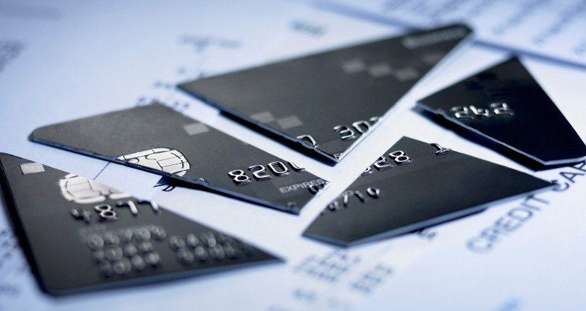 An image showing a credit card which has been cut up