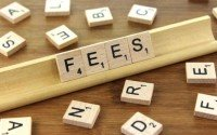 An image of scrabble tiles spelling fees