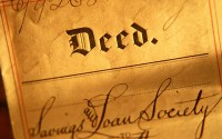An image of a house deed