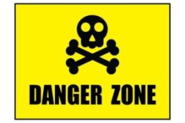An image of a danger zone sign