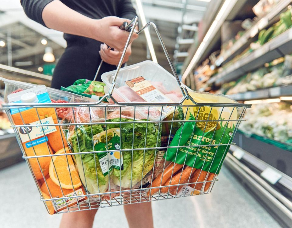 An image of a shopping basket filled with food