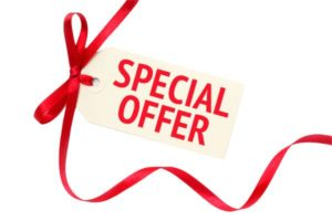 An image of a special offer sign