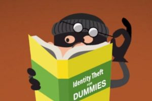 An image of an identity theft for dummies book