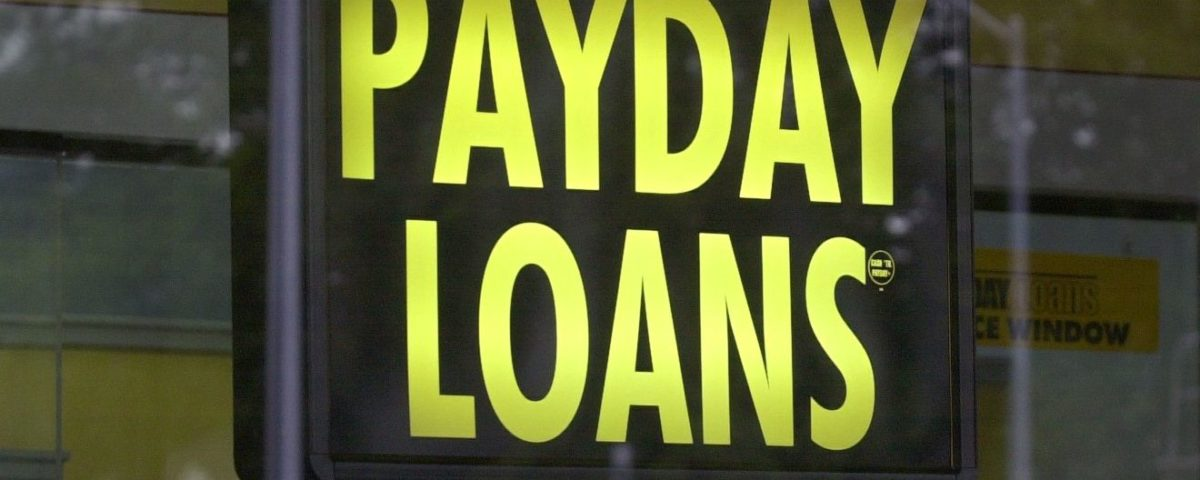 An image of a payday loans sign