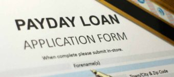 An image of a payday loan application form