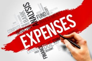 An image of an expenses word cloud