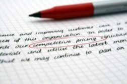 An image of a competitive pricing document