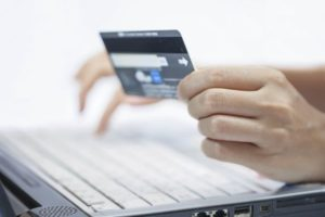 An image of a payment being made via computer