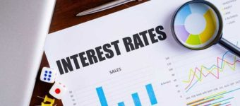 An image of an interest rates graph