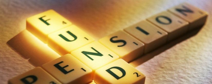 an image of scrabble tiles spelling pension fund