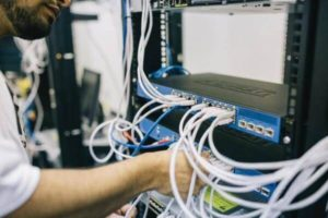 An image of server connection cables