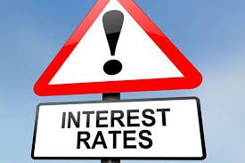 An image of an interest rate warning sign