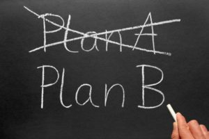 An image of plan a and plan b