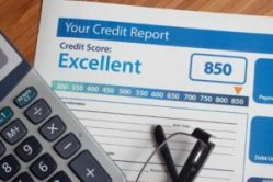 An image of an excellent credit report